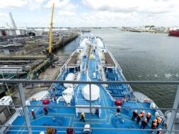 First natural gas powered vessel in world