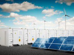 Concept,Of,Energy,Storage,System.,Renewable,Energy,Power,Plants,-