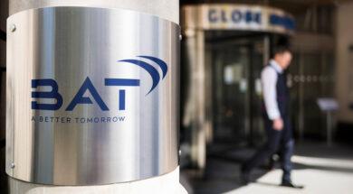 BAT logo on entrance pillar (400 dpi) (JPEG) (HD)