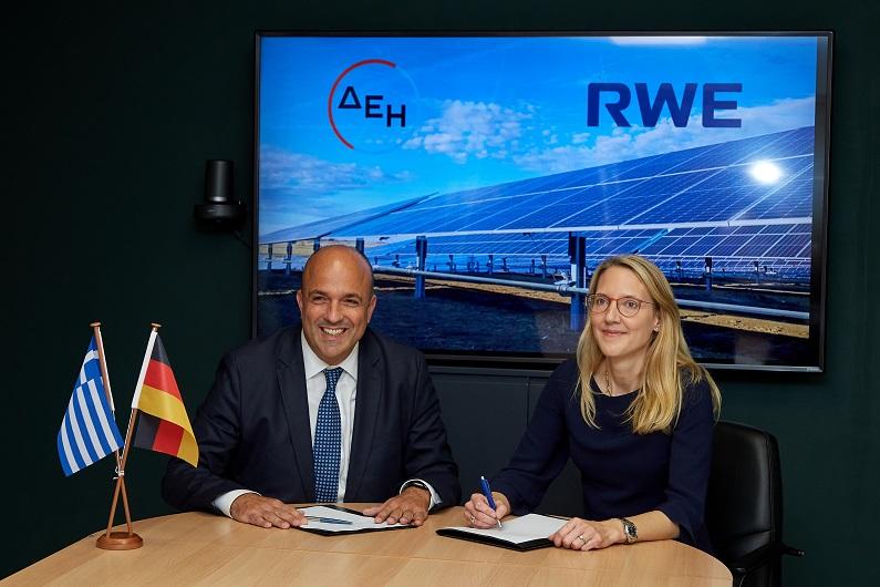 Η RWE και η ΔΕΗ δημιουργούν κοινοπραξία για την υλοποίηση έργων ανανεώσιμων πηγών ενέργειας